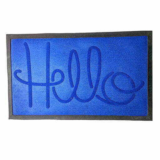 SQUARE Door Mat PP with Edge & Rubber Backed 45x75cm